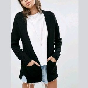 "asos ""Ultimate Chunky Cardigan"" Flowy Draped Open"